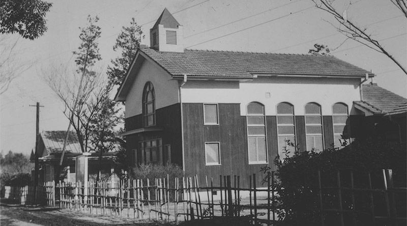 カトリック小平教会の初代聖堂:1955年7月10日献堂
