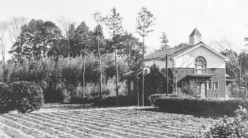 聖堂と田園風景