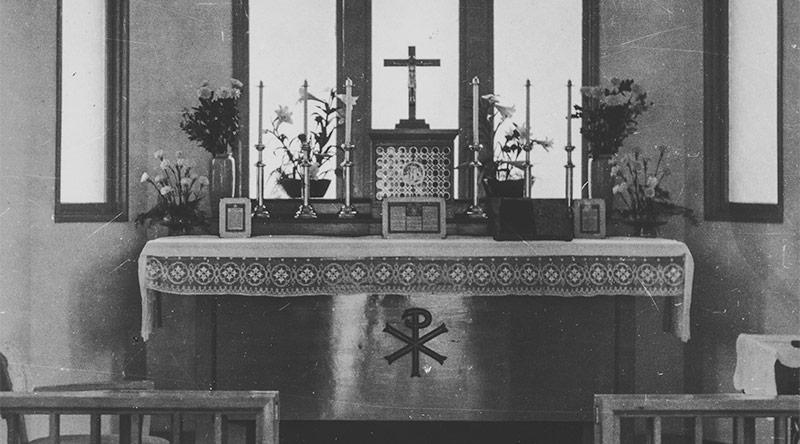 カトリック小平教会の初代聖堂の祭壇